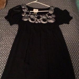 Black Circular Floral Dress